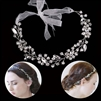 Crystal Headband with Floral Design
