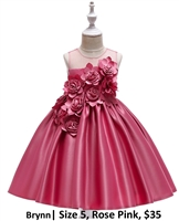 BRYNN | Illusion Top Ballgown Big Flower Appliques