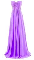 ANNIE-A-Line Strapless Chiffon Bridesmaid Gown