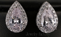 Drop Design Pear Cut Cubic Zircon Stud