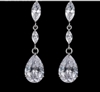 Stunning AAA Grade CZ Dangle Drop Cubic Zircon Earrings