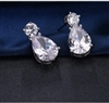 AAA White Cubic Zircon Tow Tone Classic Earrings