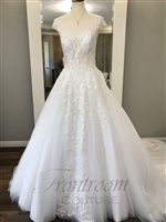 Juliet | Sheer Scoop Neck Ballgown Lace Appliques
