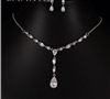 White Water Drop Cubic Zirconia Sets