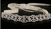 Bridal Wedding Headband with Rhinestone Diamond Patternn w/ Sash