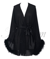 Short Chiffon Feather Robe