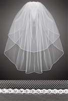 Veil with Rhinestone Edge