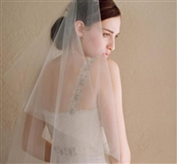 Double Layer Bridal Veil Soft and Simple