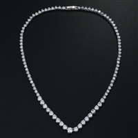Stunning Round CZ Crystal Necklaces