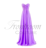 VIOLET | Sweetheart Cross Bust Ruching Chiffon