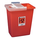 8 Gallon Sharps Containers with Hinged Lid quantity 10