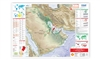 Oil & Gas Map of the Arabian Peninsula, Iran, Iraq & Syria, 1st edition