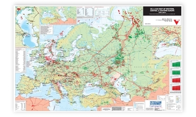 Oil & Gas Map of Western, Central & Eastern Europe, 2008