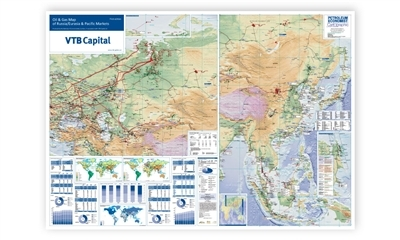 Oil & Gas Map of Russia/Eurasia & Pacific Markets, 1st edition