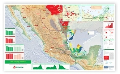 Oil and Gas Map of Mexico, 1st edition