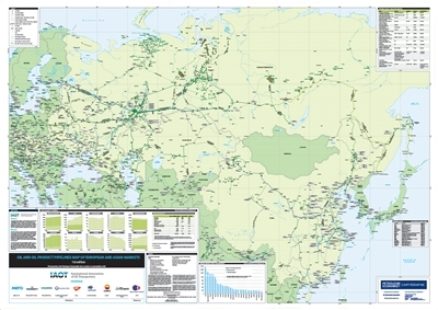 Oil and Oil Product Pipelines Map of European and Asian Markets, 1st edition