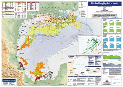 Oil & Gas Map of The Gulf of Mexico, 2018 edition