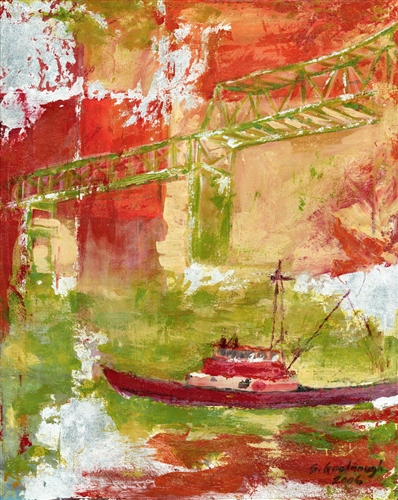 Boat & Bridge, Red Fog