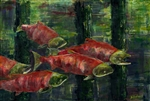 Five Spawning Sockeye