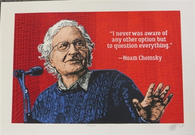 Noam Chomsky Screenprint