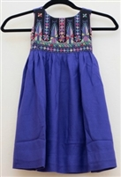 Embroidered Dress from Gaza (Purple)