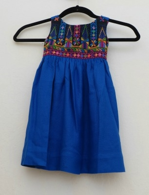 Embroidered Dress from Gaza (Blue)