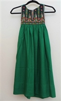 Embroidered Dress from Gaza, Green