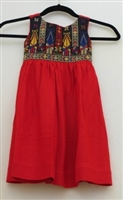 Embroidered Dress from Gaza (Red)