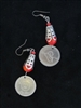Silver Earrings with Iraqi Coin