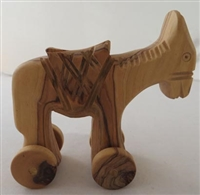 Olive Wood Toy Donkey