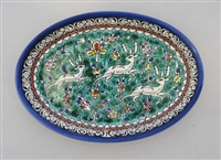 "Palestinian Ceramic Serving Bowl 6""X 9"""
