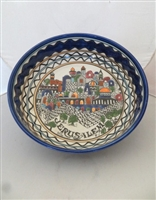 Palestinian Ceramic Serving Bowl 12""