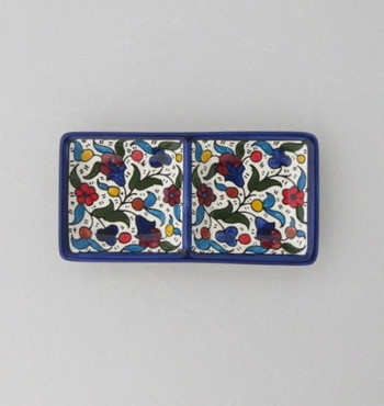 "Palestinian Ceramic Serving Dish (3"" X 6"")"