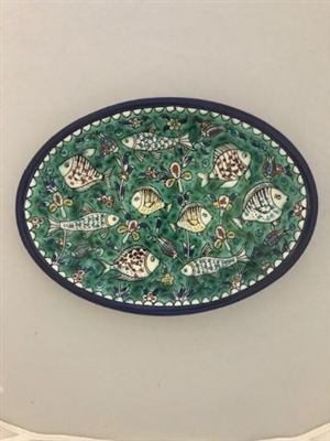 Ceramic Oval Serving  Plate(12 inches)