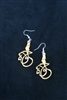 "Olivewood Arabic Calligraphy Earrings ""Beautiful Palestine"""