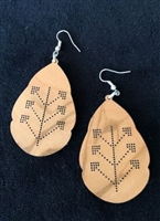 Olivewood Earrings Tatriz Design