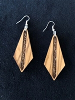 Olivewood Arabic Calligraphy Earrings