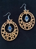 Olivewood Arabesque Earrings with Charm