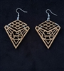 "Olivewood Arabic Calligraphy Earrings ""Love"""