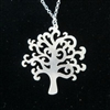 Silver Olive Tree Pendant Necklace