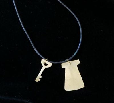 Necklace with Door and Key Pendants