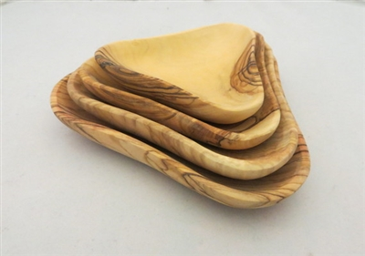 Olive Wood Set of Four Stacking Dishes