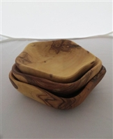 Olive Wood Set of Three Stacking Dishes