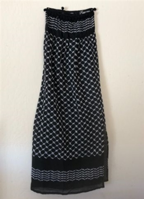 Strapless Keffiyeh Nightdress