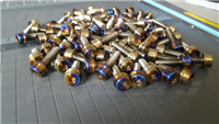 Flanged Socket Head Titanium Wheel Bolts