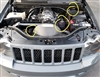Jeep WK1 Reservoir Covers (Power Steering, Brake Fluid, AC Condensor)