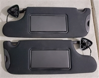 1st Gen LX Black Visors and Optional Support Clamps (1 Pair)