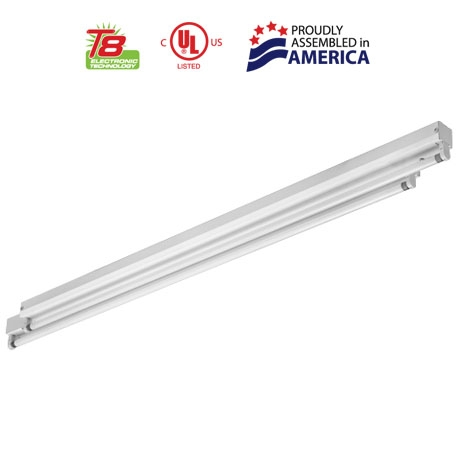 2u0027 T8 Low Profile Fluorescent Staggered Cove Luminaire  sc 1 st  USA Light & 2 Foot T8 Low Profile Fluorescent Staggered Cove Luminaire ...