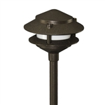 Orbit 2020-BR | Orbit Two Tier Pagoda Light - 12 volt Brown
