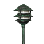 2030-F-VG | Evergreen Three Tier Pagoda Light - 12 volt Verde Green | USALight.com